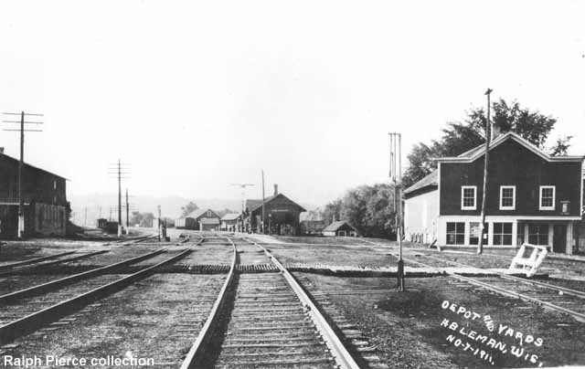 Ableman, Wisconsin depot and yards