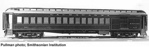 DLW 424, sister car to 425; Pullman builders photo, Smithsonian Institution; from Paul Swanson
