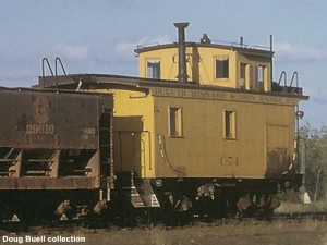 C-74 at the east end of Mitchell Yard, Hibbing, MN, 9-2-62, Doug Buell collection.