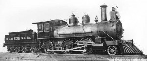 #9 as built as NO&NE #232 in 1884. Paul Swanson collection