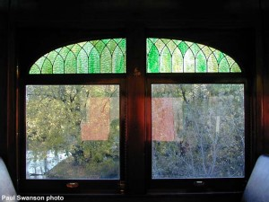 #3261 stained glass window, 10-13-00. Paul Swanson photo.