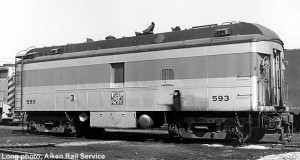 WP 593 at Stockton, CA, August 30, 1969; Long photo, Aiken Rail Service; from Paul Swanson