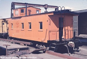 MILW #01524 at Madison, WI in C&NW Yard after restoration by museum members.  May 20, 1962.  Ron Jones photo, MCRM collection.