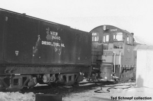 Sister car at Monroe, WI, December, 1959. Ted Schnepf collection.