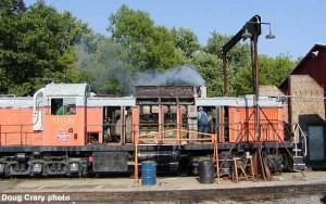 #988 under repair, July 14, 2002.