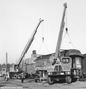 #63 being readied for transport, 1970.