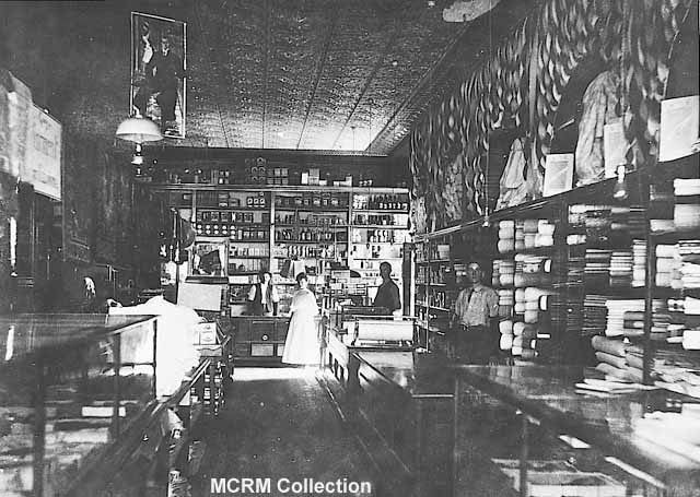 Interior of the same store in 1907.
