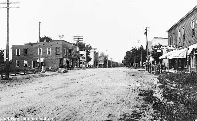 A general view looking east up Walnut Street about 1910.