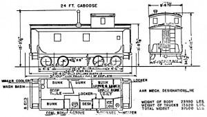 NP 24-foot caboose diagram