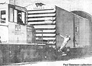 #4 switching at Pullman plant, 1950s. Photo from Pullman-Standard ad in Railway Age, 6-30-52, p. 20.  Paul Swanson collection
