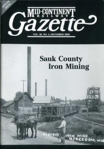 Sauk County Iron Mining Gazette cover