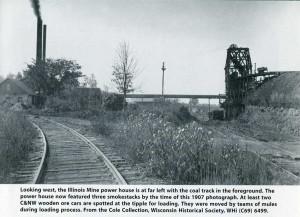 historic photo of iron mine