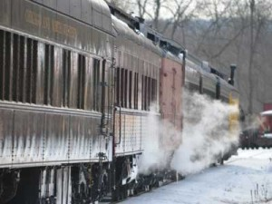 The train is kept comfortably warm no matter the temperature outside by using the cars' original steam heating system.