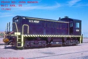 #1256 at Hill Air Forrce Base, July 1986, just after rebuild. John Benson photo.