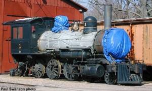 #1 in April 2000, awaiting boiler work. Paul Swanson photo.
